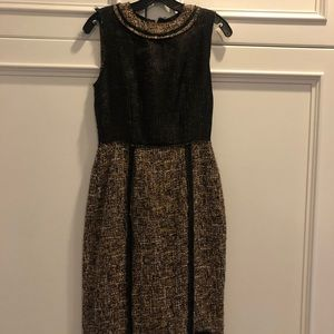 D&G Dolce & Gabanna tweed knee length shift dress